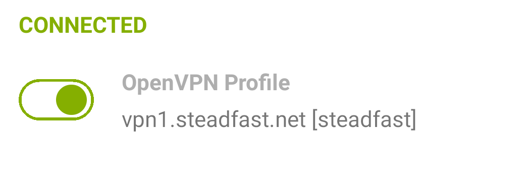 OpenVPN Connect Status Connected