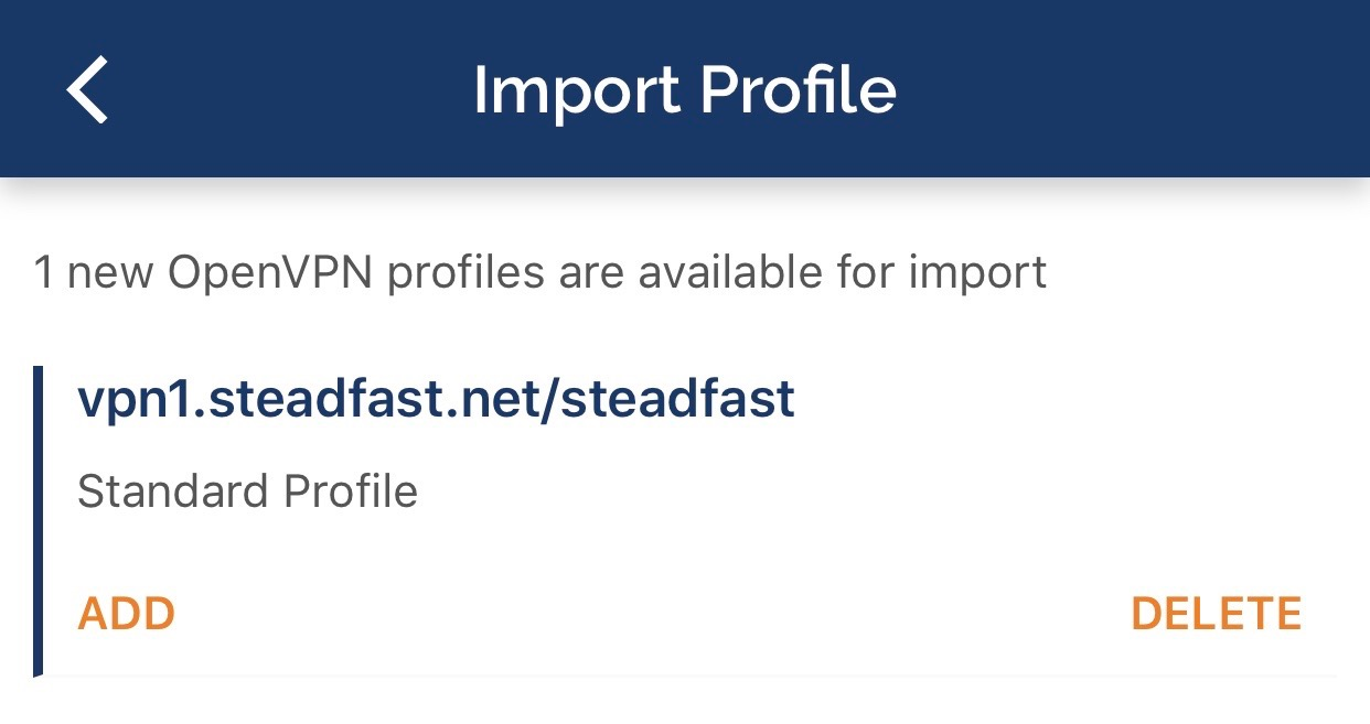 OpenVPN Connect iOS Import
